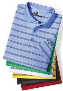 Mens Opti Vent Striped Polo